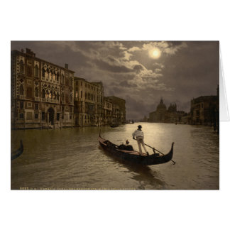 Grand Canal by Moonlight II, Venice, Italy Greeting Card