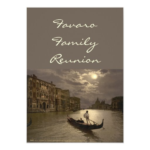 Grand Canal by Moonlight II, Venice, Italy Personalized Invites