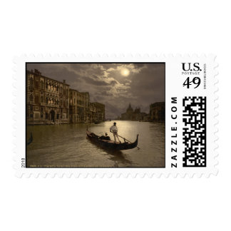 Grand Canal by Moonlight II Venice Italy Stamp