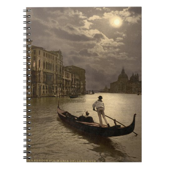 Grand Canal by Moonlight II, Venice, Italy Spiral Notebook