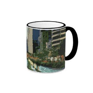 Grand Canal Evening in Hong Kong City Mugs