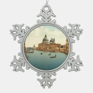 Grand Canal I, Venice, Italy Snowflake Pewter Christmas Ornament