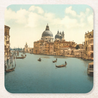 Grand Canal I, Venice, Italy Square Paper Coaster