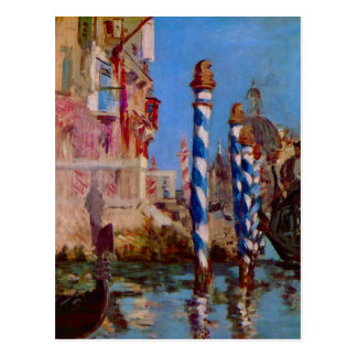 Grand Canal in Venice by Edouard Manet Post Cards