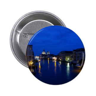 Grand canal of Venice by night Pinback Button