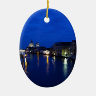Grand canal of Venice by night Ceramic Ornament