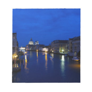 Grand canal of Venice by night Note Pad