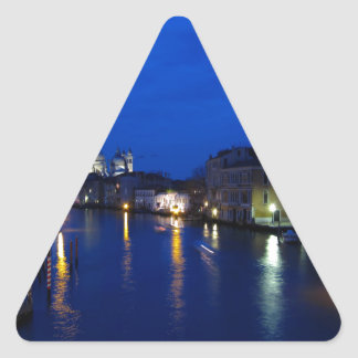 Grand canal of Venice by night Triangle Sticker