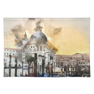 Grand Canal of Venice Italy Cloth Placemat