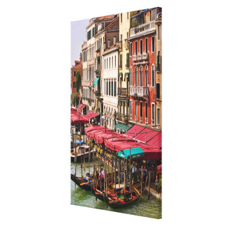 Grand Canal of Venice Italy with gondola boats Canvas Print