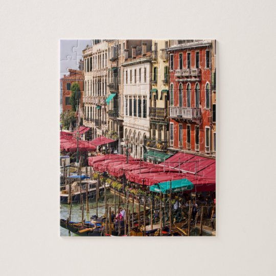 Grand Canal of Venice Italy with gondola boats Jigsaw Puzzle