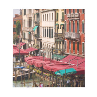 Grand Canal of Venice Italy with gondola boats Notepad