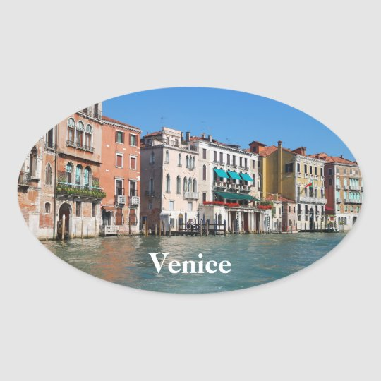 Grand Canal Oval Sticker