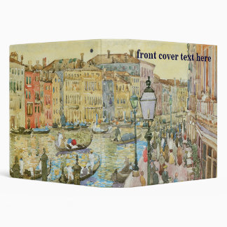Grand Canal, Venice by Maurice Prendergast 3 Ring Binder