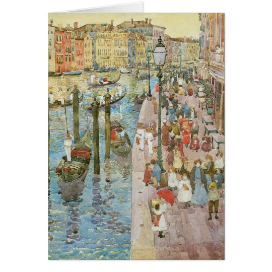 Grand Canal, Venice by Maurice Prendergast Card