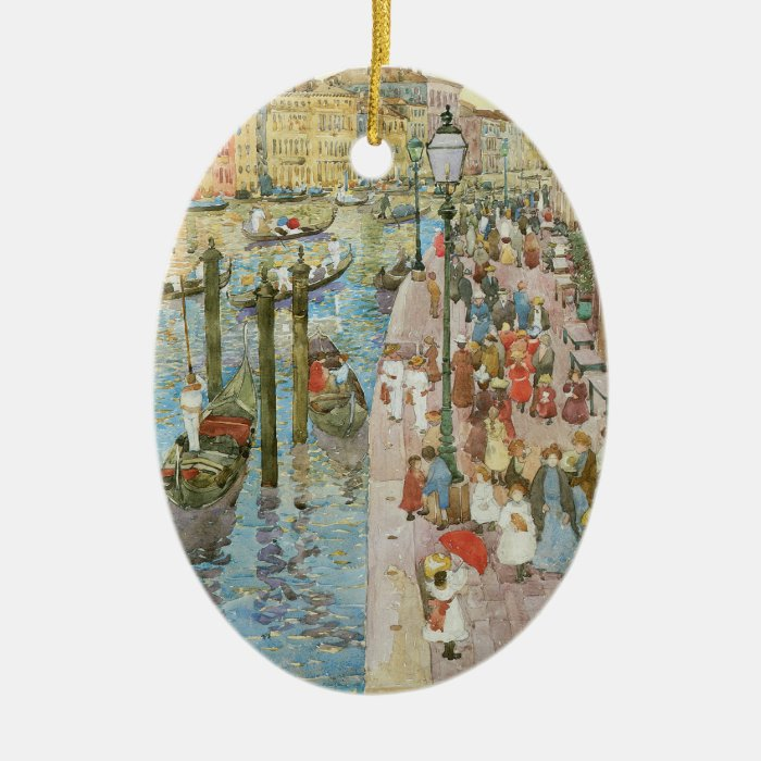 Grand Canal, Venice by Maurice Prendergast Ceramic Ornament