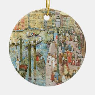 Grand Canal, Venice by Maurice Prendergast Ceramic Ornament