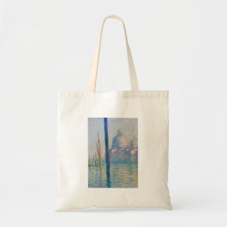 Grand Canal Venice by Monet Canvas Bags