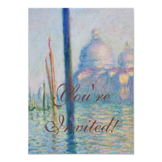 Grand Canal Venice by Monet Card