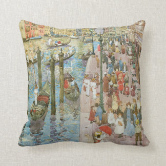 Grand Canal, Venice by Prendergast, Vintage Art Throw Pillows