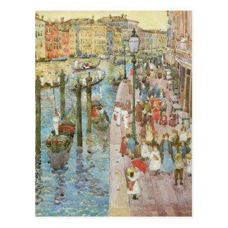 Grand Canal, Venice by Prendergast, Vintage Art Postcard