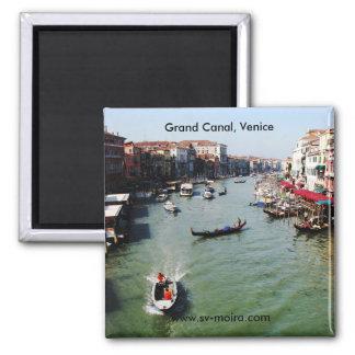 Grand Canal, Venice from Rialto Bridge 2 Inch Square Magnet