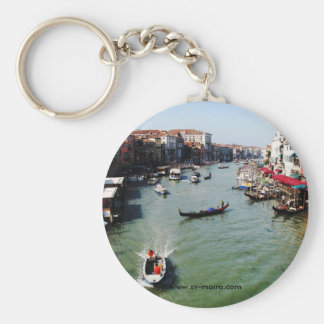 Grand Canal, Venice from Rialto Bridge Basic Round Button Keychain