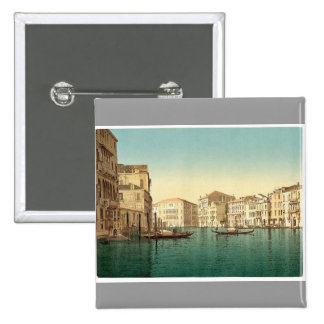 Grand Canal, Venice, Italy vintage Photochrom Button