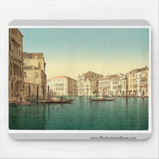 Grand Canal, Venice, Italy vintage Photochrom Mouse Pad