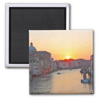 Grand canal Venice - sunrise 2 Inch Square Magnet