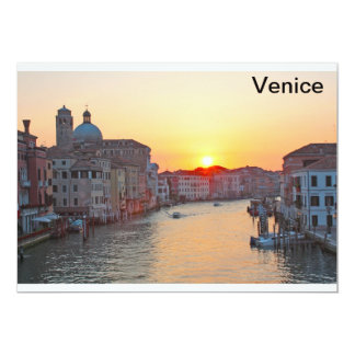 Grand canal Venice - sunrise Personalized Invitations