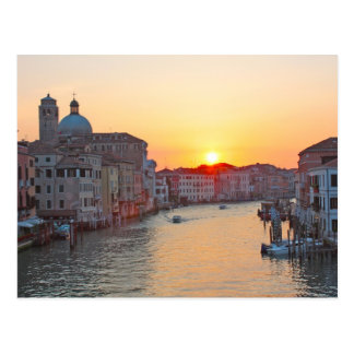 Grand canal Venice - sunrise Postcard