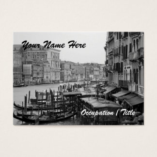 Grand Canal View Business Card