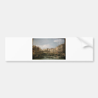 Grand canal, view from north by Bernardo Bellotto Bumper Sticker