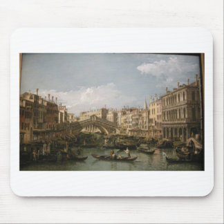 Grand canal, view from north by Bernardo Bellotto Mouse Pad
