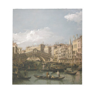 Grand canal, view from north by Bernardo Bellotto Notepad