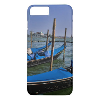 Grand Canal water with gondalo boats lined up iPhone 8 Plus/7 Plus Case