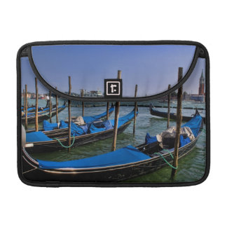 Grand Canal water with gondalo boats lined up MacBook Pro Sleeve