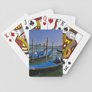 Grand Canal water with gondalo boats lined up Playing Cards