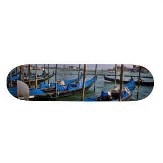 Grand Canal water with gondalo boats lined up Skateboard Deck