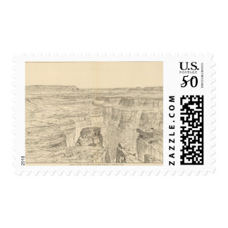 Grand Canon, foot of the Toroweap looking East Postage