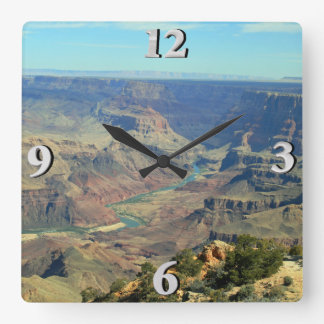 Grand Canyon 1 Square Wall Clock