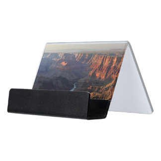 Grand Canyon and Colorado River in Arizona Desk Business Card Holder