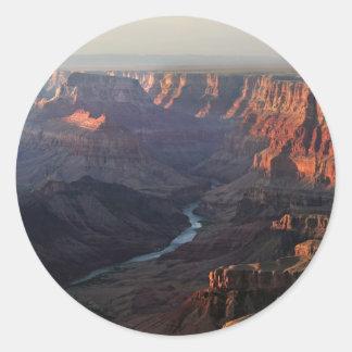 Grand Canyon and Colorado River in Arizona Classic Round Sticker