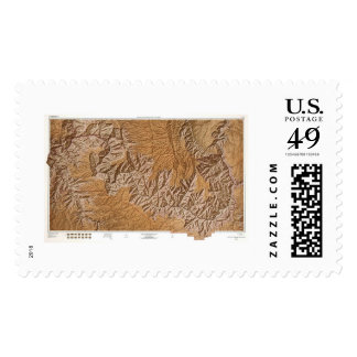 Grand Canyon and Vicinity Map 1962 Postage