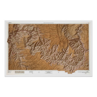 Grand Canyon and Vicinity Map 1962 Poster