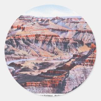 Grand Canyon Arizona Classic Round Sticker
