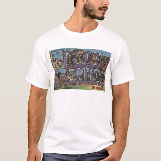 Grand Canyon, Arizona - Large Letter Scenes T-Shirt