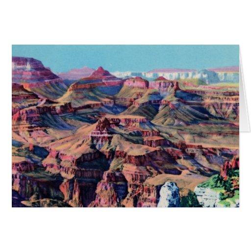 Grand Canyon Arizona Moran Point Greeting Cards
