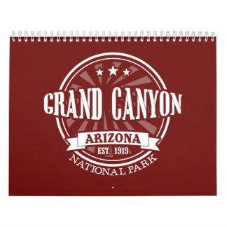 Grand Canyon Arizona National Park Calendar